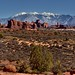 If You're Going to Have a Backdrop, You Might as Well Have Mountains (Arches National Park)
