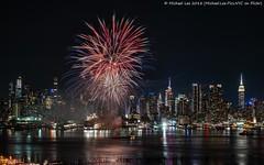 Last Blast (20180523-DSC07151) (Michael.Lee.Pics.NYC) Tags: newyork fireworks hudsonriver weehawken newjersey aerial night longexposure carnivalcruiselines fleetweek timessquare esb empirestatebuilding architecture cityscape sony a7rm2 fe24105mmf4g