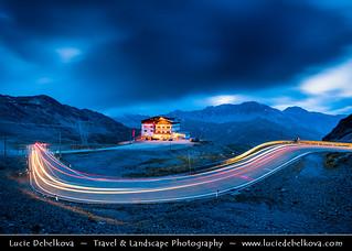 Italy - Alps - Stelvio Pass - Passo dello Stelvio - Stilfser Joch at Dusk - Twilight - Blue Hour - Night
