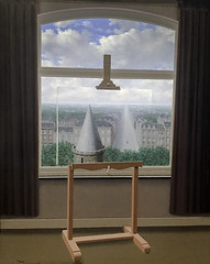 'Where Euclid Walked' by Rene Magritte (Greatest Paka Photography) Tags: painting artist art surrealism euclidofalexandria mathematics sfmoma renemagritte belgian geometry museumofmodernart museum sunlitsurrealism illusion