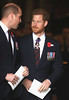 Prince William, Duke of Cambridge and Prince Harry depart after attending an Anzac Day Service of Commemoration and Thanksgiving at Westminster Abbey on April 25, 2018 in London, England. (Photo by Chris Jackson/Getty Images)