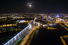 Full Moon Night Drone View (free3yourmind) Tags: full moon fullmoon night drone quadcopter view xiaomi mi minsk belarus aerial above lights city