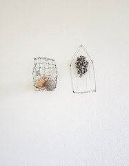 from the transmuting news series (Ines Seidel) Tags: transmuting news newspaper house cage series exhibition objects paper