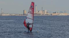 Slow surfing in Öresund (frankmh) Tags: windsurfing windsurfer hittarp helsingborg skåne sweden portofhelsingborg people