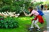 Double Focus (Hindrik S) Tags: photographer smartphone two social tulips tulipa tulpen garden tún tuin garten jardin keukenhof lisse green grass girls famkes