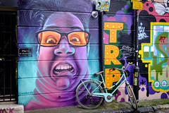 London 2018 - 07 (FEGO Photographies) Tags: franckemanuelgoguer fego fegoguer fujifilm fuji fujifilmx100t x100t x100 london spitalfields bricklane graffiti streetphotography streetart street bike colours