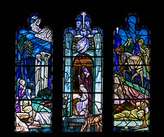 Douglas Strachan: The nativity (badger_beard) Tags: westminster college cambridge cambridgeshire cambs south douglas strachan stained glass window 20th century 1920s nativity new testament