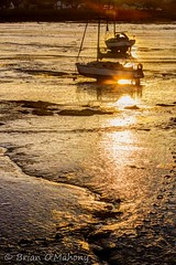 When The Path We See Is Lonely (Brian O'Mahony) Tags: sunset boats orange brianomahony sea thephotographiceye canon5dmarkiv path canon70200mmf28l bangor habour north wales sand sun water landscape nature beauty boat yacht coastal coast seascape mud grace beach reflection