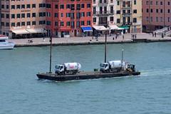 garbage trucks in Venice - Italy