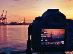 A wonderful sunset with my Canon !!! (manuela albanese) Tags: tramonto sunset mediterraneo sea mare spring relax camogli photos albanese manuela canon porto antico docks lanterna