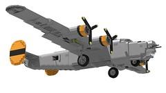 Lego B-24J Liberator - Bungay Brickaroo 08 (Lt. SPAZ) Tags: consolidated b24 b24j liberator bomber aviation wwii war lego moc airplane 446th usaaf bungay brickaroo allies