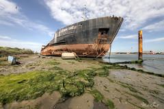 Gazprom (Michal Seidl) Tags: abandoned ship boat opuštěná lod námořní nákladní cargo lost decay hdr urbex exterior italy canon 6d abbandonato přístav port porto