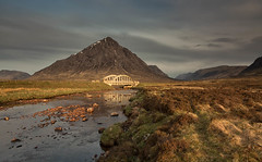 Glen etive (markstrachan1) Tags: bridge stones weather clouds blue green road river day cold worm o