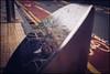 Hmm, what's he up to? (Explored) (G. Postlethwaite esq.) Tags: fujix100t portobello sheffield yorkshire barrier candid city cyclelane man photoborder photowalk raod reflection stainlesssteel streetscene tree person bokeh dof depthoffield selectivefocus