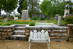 Oakland 74 (Krasivaya Liza) Tags: oakland cemetery atlanta ga georgia atl grave graves gravesite headstone headstones lawn flower flowers iris irises spring bloom blooming april 2018