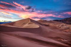 Eureka Dunes Death Valley. (Donbigga) Tags: sunsets colors sand desert dunes sky colorful