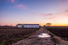 Viale del tramonto (Clataras) Tags: alley sunset house old land landscape night tree