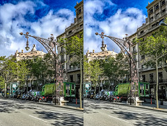 Street lamp 3D (Immagini 2&3D) Tags: barcelona spain lapedrera casamilà anytonigaudì