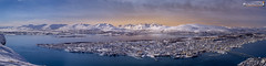 Tromsø from above on a winter evening (dieLeuchtturms) Tags: fjord schnee norwegen meer europa 4x1 troms panorama winter europe norge norway sea snow tromsø no