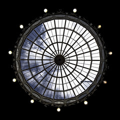 Devonshire Dome roof window (Dannis van der Heiden) Tags: skylight dome architecture window geometric devonshire buxton roof bulb circle england peakdistrict flag nikond750 tokina1628mmf28 sky clouds lights upwards bluesky