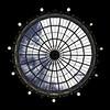 Devonshire Dome roof window (Dannis van der Heiden) Tags: skylight dome architecture window geometric devonshire buxton roof bulb circle england peakdistrict flag nikond750 tokina1628mmf28 sky clouds lights upwards bluesky