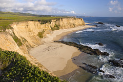 Shore Cliff (milton sun) Tags: shore cliff cowellranchbeach sanmateocounty california seascape bay ngc bayarea wave ocean seaside coast northerncalifornia westcoast pacificocean landscape outdoor clouds sky water rock mountain rollinghills sea sand beach nature meadows green farm grass