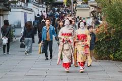 Geisha in Gion, Kyoto - Japan (Marconerix) Tags: kyoto japan giappone kimono girls girl geisha street urban candid