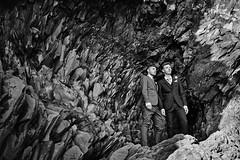 David & Daniel (LalliSig) Tags: wedding photographer iceland people portrait portraiture september autumn black white gray reynisfjara cave