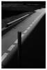 WEG (niam.) Tags: weg abwege richtung street strase streetfotography stadtlandschaft licht light linie lines shaddow schatten schwarzweiss blackandwhite scan negativ film ilfordpanf50 d76 leicam42 diagonal hochformat asphalt minimal wenig reduziert reduced stange black dark risse analog sonne abendsonne