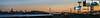 burma road landing (pbo31) Tags: bayarea california eastbay alamedacounty nikon d810 color may 2018 spring boury pbo31 urban city oakland portofoakland sanfrancisco skyline sunset orange baybridge burma bridge 80 bay salesforce transamerica 181fremont dark black easternspan billboard lightstream motion traffic panoramic large stitched panorama prescott