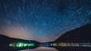 Trails (Christophe Rusak) Tags: ciel nuit bleu nature lumière paysage nuage soleil eau mer abstrait lac foncé soir star espace horizon lumineux été couleur startrails etoiles reflection reflet