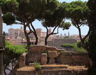Find buried remains of the Forum Romanum