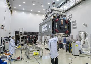 Moving satellite