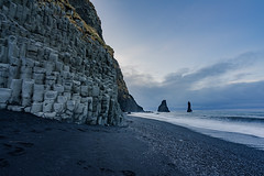 Rising From the Dark (JeffMoreau) Tags: black sand vik iceland south coast icelandic morning basalt columns landscape sony a7ii zeiss