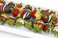 Fresh strawberries in chocolate and pistachios on a white plate (yannamelissa) Tags: cream chocolate whipped fresh mousse strawberry filled strawberries fruit dessert background food white decoration sweet delicious tasty gourmet pudding healthy glass red brown nutrition cheese french treat homemade creamy gelatin torte isolated table rustic color crepe summer closeup yellow light holiday colorful life reflection dark tropical hotel restaurant buffet berry