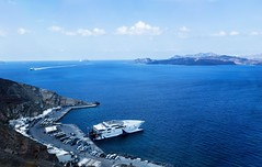 Греция, о. Санторини (vikkay) Tags: море греция санторини остров лето отдых путешествие пейзаж панорама порт паром