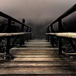 Der kleine Steg am Huzenbacher See. thumbnail