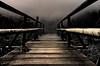 Der kleine Steg am Huzenbacher See. (MHikeBike) Tags: wald weg wanderweg wandern schwarzwald nordschwarzwald murg murgtal schömünzach schwarzenberg baiersbronn wetter nebel wolken bäume nationalpark karsee see