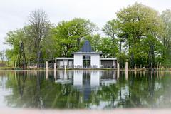 Tea House Reflection (ildikoannable) Tags: building reflection architecture fujix100t royal botanical gardens
