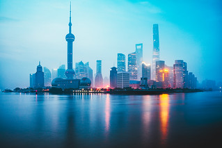 Foggy day, Shanghai morning, Shanghai skyline China