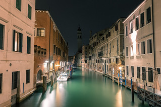 Venice Channels at Night