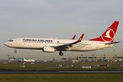 TC-JVO | Turkish Airlines | Boeing B737-8F2(WL) | CN 60031 | Buil ,2016 | DUB/EIDW 18/12/2017 (Mick Planespotter) Tags: aircraft airport dublinairport collinstown nik sharpenerpro3 tcjvo turkish airlines boeing b7378f2wl 60031 2016 dub eidw 18122017 b738 b737 2017