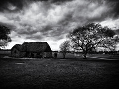 Culloden 1 (Feldore) Tags: culloden inverness jacobite scotland battle battlefield bleak haunted landscape moor warfare ghostly cottage tree spooky feldore mchugh em1 olympus 1240mm clouds moody ghosts
