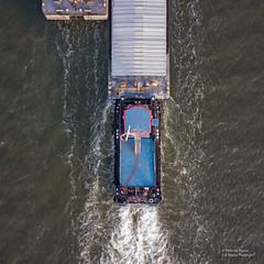 Albatros (Peet de Rouw) Tags: albatros duwboot adm scheur portofrotterdam peetderouw drone djimavicproplatinum barges riverboat transport logistics cargo