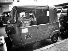 That look 👀 (-Faisal Aljunied - !!) Tags: streetphotography eyecontact autorickshaw indonesia jakarta gr ricoh faisalaljunied