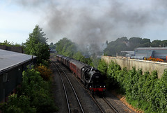 45212 - The Cathedrals express (Andrew Edkins) Tags: 45212 worcestershire worcestershrubhill departure cathedralsexpress railwayphotography england uksteam mainlinesteam travel trip may 2018 summer canon geotagged light railtour excursion