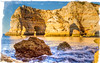 An Algarve morning (cee live) Tags: seascape sea algarve portugal flickr canon sunny morning cliffs arches rocks spray waves