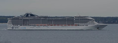 MSC Preziosa on its way to Stockholm (frankmh) Tags: ship cruiseship mscpreziosa öresund hittarp skåne sweden denmark