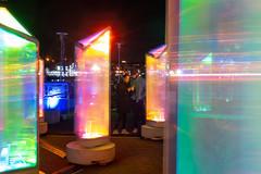 Light City (Dave Fine) Tags: night fun prism art vibrant md baltimore publicart light scene colorful unitedstates outside glow artfestival nighttime outdoors lightcity usa maryland baltimoreinnerharbor bmore us