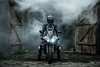 Hellrider (mwisniewski91) Tags: yamaha yamahar1 biker bikers bikeporn black smoke smokegrenade grenade shed old wooden wood lights xenon helmet portrait motorbike motorsport motorcycle r1